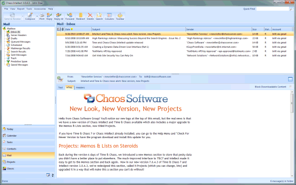 Chaos Intellect - business email client with contact management