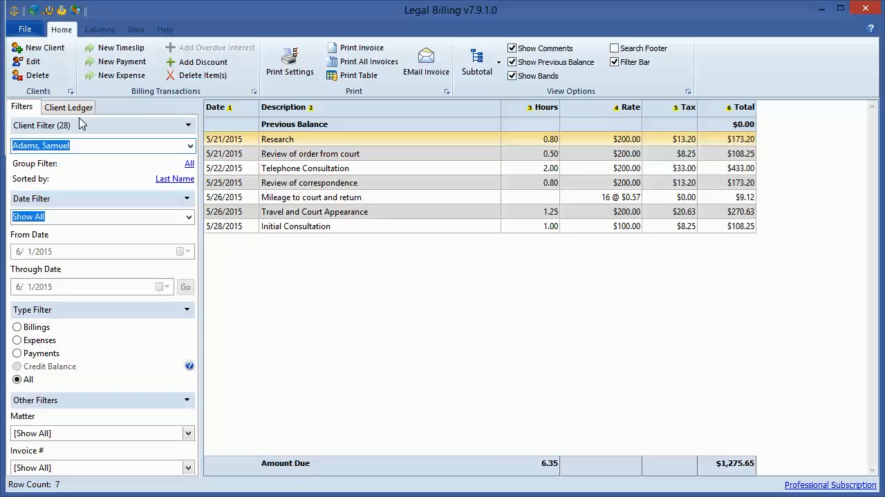 professional legal billing software from chaos software